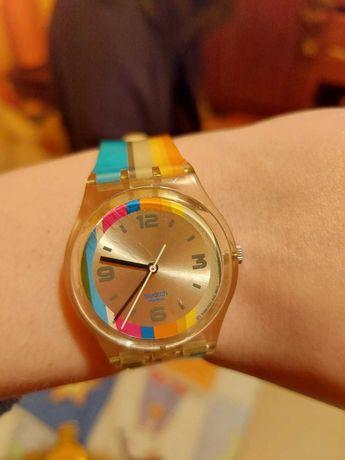 Relógio Swatch Riscas Coloridas