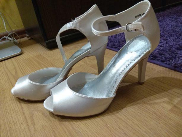 Sandałki ślubne rozmiar 38, jak nowe