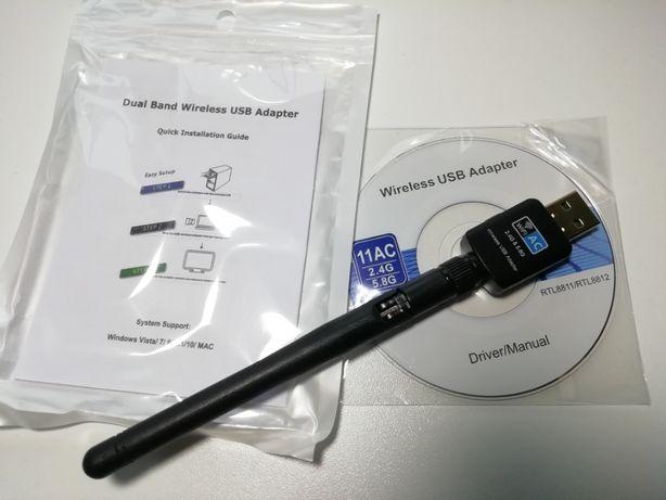 USB WiFi адаптер RTL8811 двухдиапазонный 2,4 и 5 ГГц (5 Ghz 802.11AC)