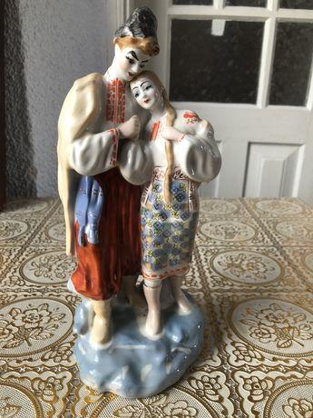 Фарфоровая статуэтка «Козак с Девушкой»