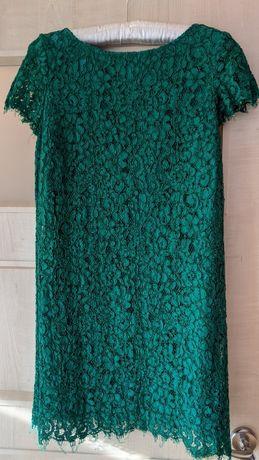 Sukienka Zara XS koronka zielona