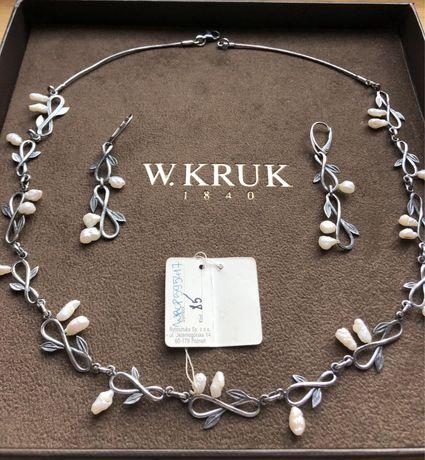 Komplet srebrnej biżuterii Rytosztuka /W. Kruk