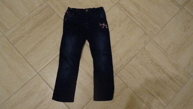 jeansy zimowe dziewczęce w rozmiarze 98