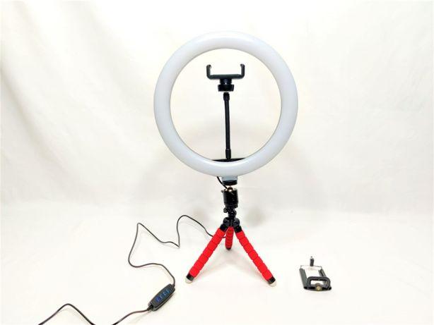 [NOVO] Ring Light c/ Anel 26 cm, Tripé e Suporte de Telemóvel