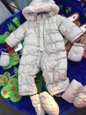 Пуховый комбинезон Chicco костюм 74 летняя цена