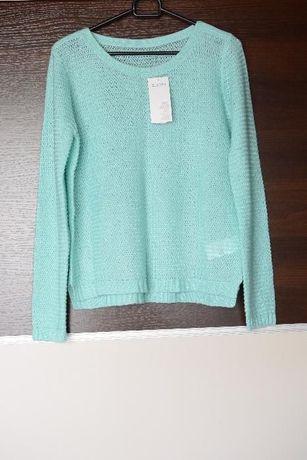 NOWY miętowy, turkusowy sweterek Terranova rozmiar M