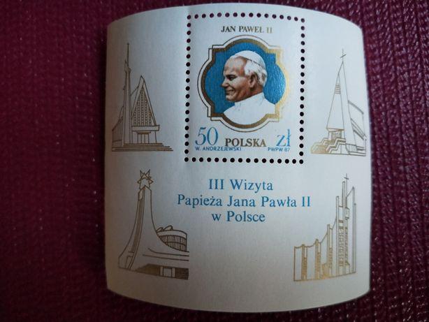 III wizyta papieża Jana Pawła II w Polsce - znaczek pocztowy z 1987r