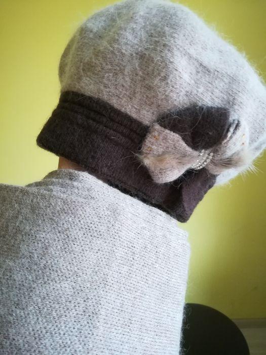 Ангоровый берет и шарф, комплект Кривой Рог - изображение 1