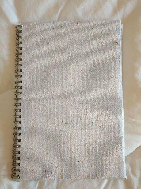 Bloco notas papel reciclado