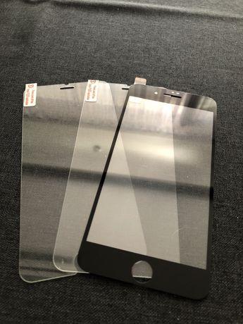 Zestaw 3 nowych szyb ochronnych do iPhone 6/7/8 Plus