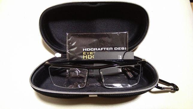 Eleganckie uniwersalne oprawki okulary z tytanu wraz z etui