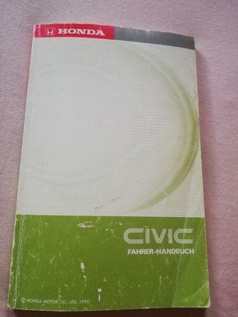 Niemiecka książka honda civic 1990