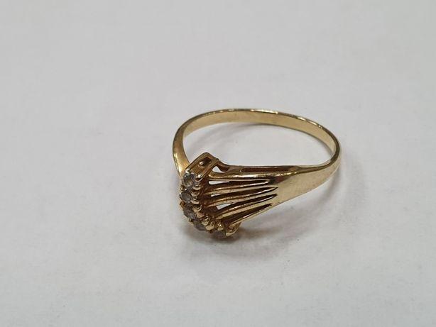 Klasyczny złoty pierścionek damski/ 585/ 2.4 gram/ R15/ sklep Gdynia