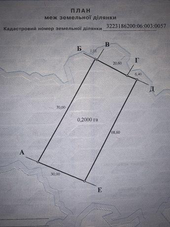 Продаеться фасадный земельный участок 20  в селе Новые Безрадычи