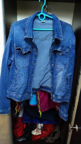Джинсовая курточка большого размера