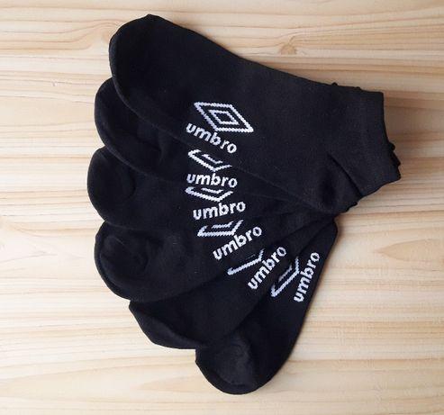 Skarpety UMBRO stopki czarne 3-pak 43-46 NOWE krótkie do adidasów