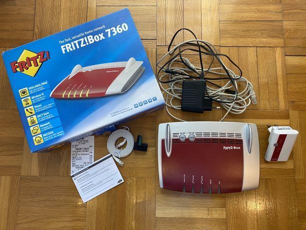 Router pod NEOSTRADĘ ADSL Modem FRITZ!BOX 7360 EU + wzmacniacz WIFI