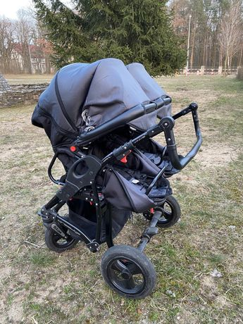 Wózek Dorjan Twin 3w1 dla Bliźniaków