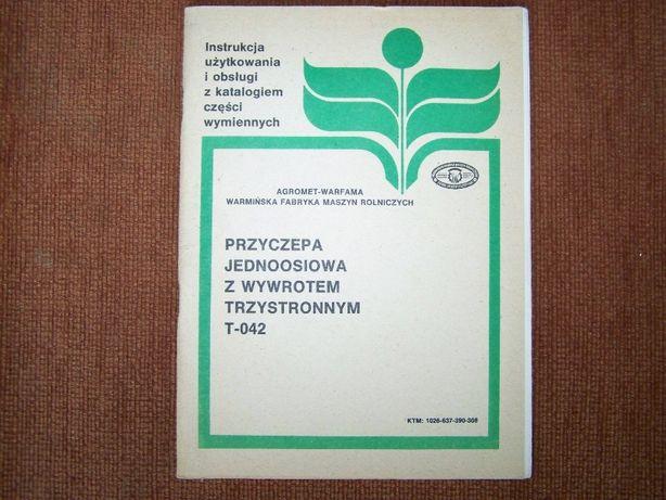 Instrukcja obsługi i katalog Warfama przyczepa jednoosiowa T-042