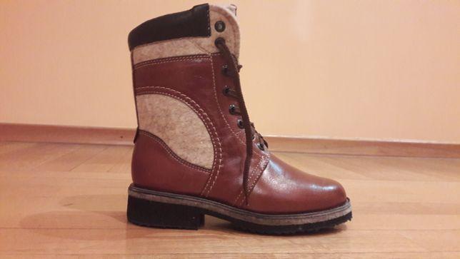 Ботинки зима, шерсть