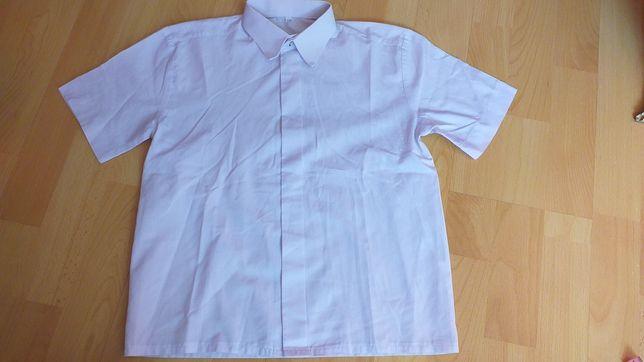 Biała koszula z krótkim rękawem roz 128
