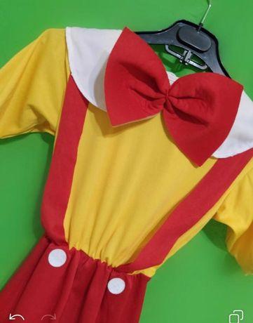 Карнавальный комбинезон. Карнавальный костюм. Клоун.