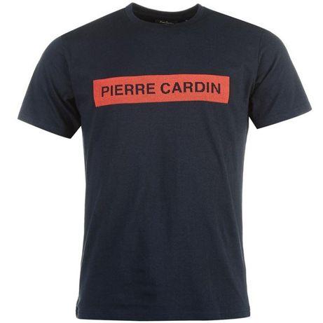 Granatowy t-shirt Pierre Cardin XL