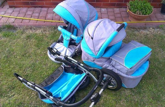 Wózek Baby Rossy niebieski
