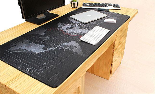 Podkładka na biurko MAPA ŚWIATA Designerski prezent NOWA 90x40cm