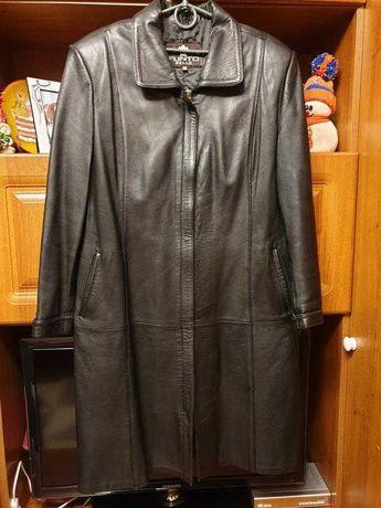 Женская кожаная куртка  плащь 52-54 размер