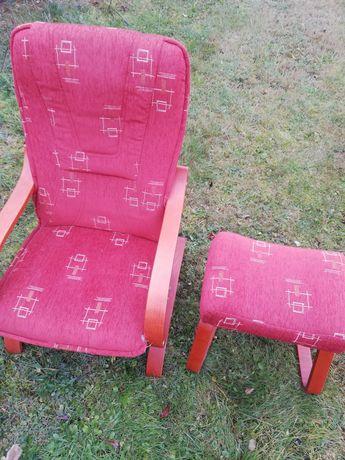 Fotele Finka 2 szt + podnóżki