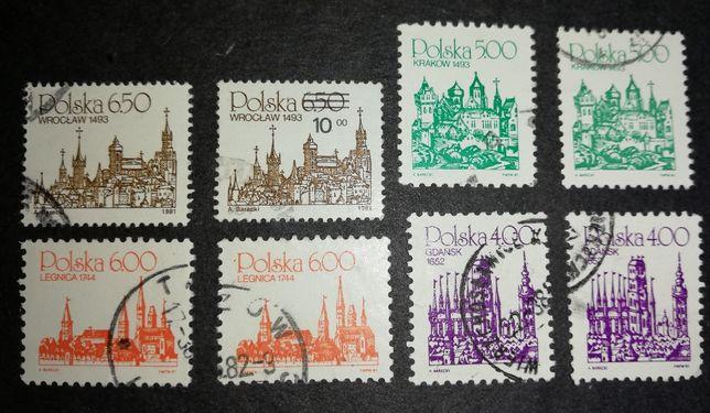 Wroclaw 1493 Kraków 1493 Legnica 1744 Gdańsk 1652 Znaczek / Znaczki