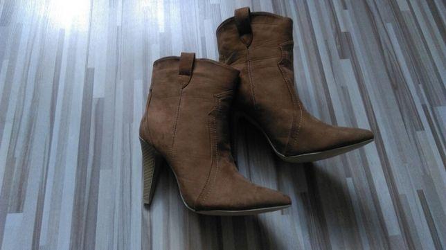 Wiosna!!! Nowe buty, botki kowbojki karmelowe r.39