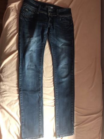 Damskie spodnie jeansowe rurki rozm 38