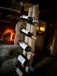 Drewniany stojak na wino, Stojak na wino, Vintage