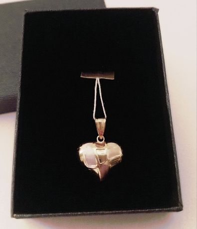 ZŁOTY duży medalik serce pełne pr.585. Na zaręczyny, urodziny itp.