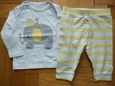 Komplet spodnie i bluzeczka dla dziecka, rozmiar 68 (3-6miesiecy) F&F