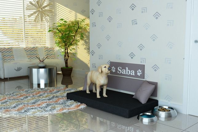 """Legowisko dla psa,psie legowisko-producent-""""SABA"""" IMIĘ PSA- tkanina 10"""
