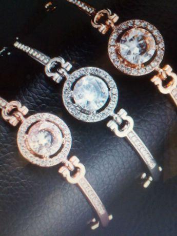 Красивый новый женский браслет с цирконием