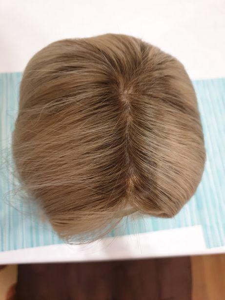 Парик натуральный, славянский волос на полной сетке