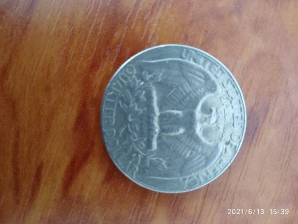 Продам 25 центов США  1974 года