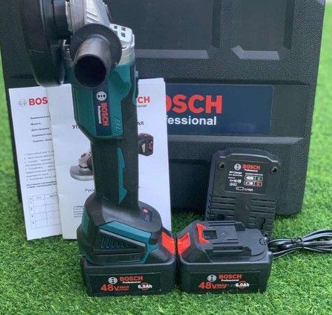 2 АКБ / Болгарка Bosch GWX 48V-10C 125 мм УШМ Бош бесщеточная УШМ Шлиф