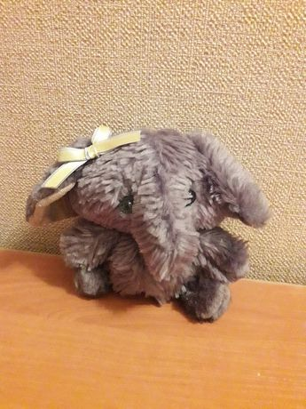 """Мягкая игрушка """"Слоненок"""" слон, патриотическая лента бантик на подарок"""