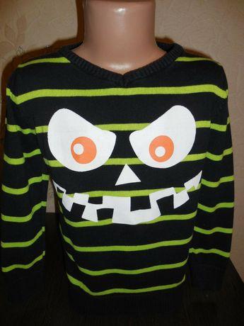 Веселый коттоновый свитерок Kiki&Koko, 98 размер