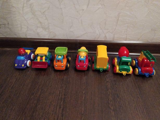 Интересные машинки,поезда,тракторы.