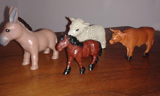 Figurki zwierzęta domowe zabawki gospodarstwo konik osiołek owieczka