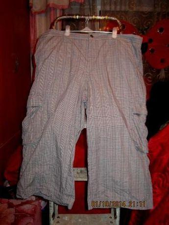 отличные шорты бриджи капри германия клетка хлопок 52-54 XL карманы