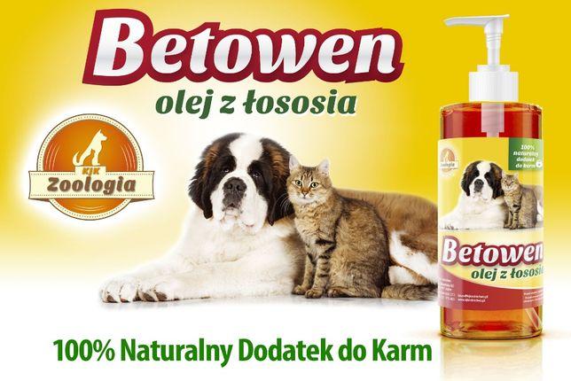 Olej z łososia dla psów, kotów, piękna sierść, 0,25 litra