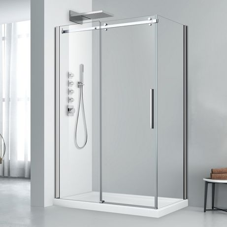 PROMOCJA! Elegancka kabina prysznicowa przesuwna 100x90 CHROM !!!