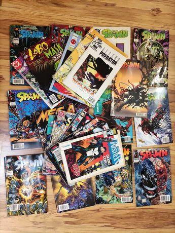 Komiksy komiks 28 sztuk SPAWN LOBO Superman Mega Marvel 97 98 99 Mława